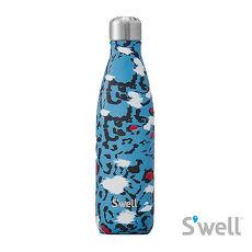 【Swell】紐約時尚不鏽鋼保冷保溫瓶-Exotics系列 Azure Leopard 17oz(500ml)