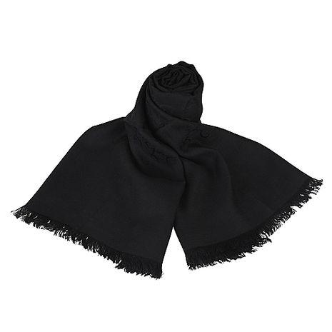 GUCCI 經典GG緹花LOGO羊毛圍巾(黑)