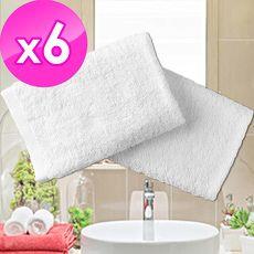 【法式寢飾花季】純品良織-五星飯店專用款純白柔舒毛巾(150g/條)x6件組