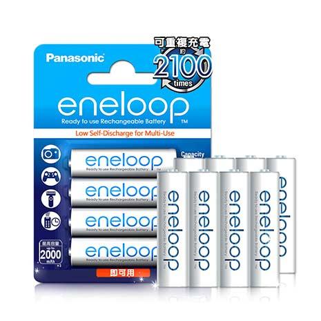 國際牌Panasonic eneloop 低自放鎳氫充電電池(3號8入) 贈電池盒