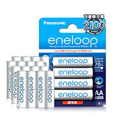 國際牌Panasonic eneloop 低自放鎳氫充電電池(4號16入)  贈電池盒