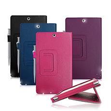 SONY Xperia Z3 Tablet Compact 8吋  經典商務書本式 磁扣支架保護套迷幻深紫