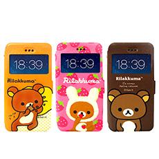 日本授權正版 懶懶熊/拉拉熊/Rilakkuma iPhone 6s/6 4.7吋 i6 彩繪視窗手機皮套(貪吃款)