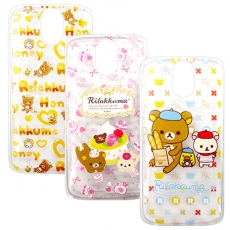 SAN-X授權正版  HTC Desire 526G+  Rilakkuma/拉拉熊/懶懶熊 透明軟式保護套 手機殼(友誼款)