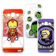 漫威 授權正版 三星 Galaxy E7 復仇者聯盟 Q版透明軟式保護套 手機殼(英雄款)