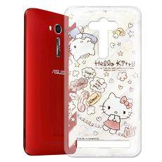 Hello Kitty ASUS Zenfone2 Laser 5.5吋 透明軟式手機殼(熱線Kitty)