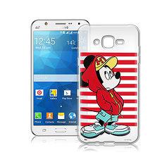 迪士尼授權正版Samsung Galaxy A8 街頭系列透明軟式手機殼 (帽T米奇)