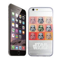 電影授權正版 STAR WARS星際大戰 iPhone 6/6s plus 5.5吋 超薄雙料彩繪手機殼(白兵九宮格)