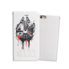 電影授權正版 STAR WARS 星際大戰 iPhone6/6s 4.7吋 彩繪磁扣手機皮套(千年鷹)