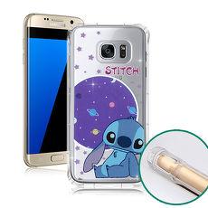 迪士尼授權正版 Samsung Galaxy S7 edge 5.5吋 空壓安全保護套(史迪奇)