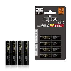 【日本製】Fujitsu富士通 低自放電4號 900mAh鎳氫充電電池 HR-4UTHC (4號4入)