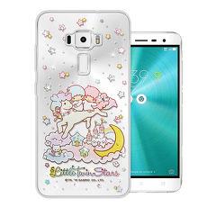 三麗鷗授權正版 雙子星仙子 KiKiLaLa 華碩 ZenFone 3 5.2吋 ZE520KL 水鑽系列軟式手機殼(飛馬樂園)