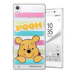 迪士尼授權正版 SONY Xperia Z5 Premium 5.5吋 大頭招呼系列軟式手機殼(維尼)