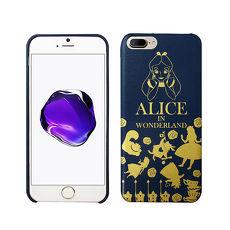 迪士尼正版授權 魔鏡夢遊仙境 iPhone 8 Plus/iPhone 7 Plus 精緻燙金皮革手機殼(愛麗絲)