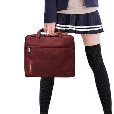 [COOL] PS學院風 13.1吋 雙拉鍊防撥水手提肩背兩用平板筆電包 秋楓紅