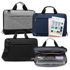 [13.3吋] 爵品商務 雙拉鍊防撥水 可全開式兩用平板筆電包 Apple MacBook Pro 13吋適用款