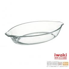 【iwaki】玻璃微波烤盤340ml
