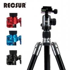 RECSUR 銳攝 RS-3224A+VQ-20 四節反折式鎂鋁合金腳架 台腳二號-送拭鏡筆酷炫黑