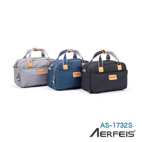 AERFEIS 阿爾飛斯 AS-1732S 帆布手提側背相機包(小)_APP黑色