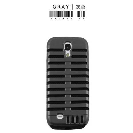 Lilycoco Samsung Galaxy S4 i9500 魚骨造型保護殼-灰