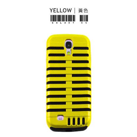 Lilycoco Samsung Galaxy S4 i9500 魚骨造型保護殼-黃