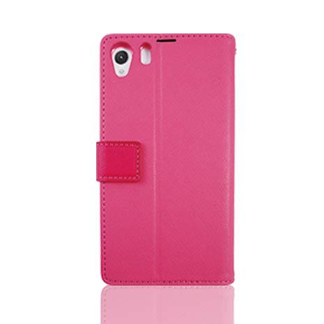 Lilycoco Sony Xperia Z1可站立側翻皮套-粉色