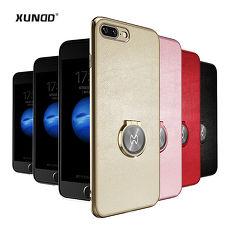 XUNDD 訊迪 蘋果 iphone i7+/ i8+ 維特系列 奢華皮革指環扣支架手機殼金色