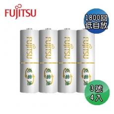日本Fujitsu 富士通 低自放電3號充電電池4入
