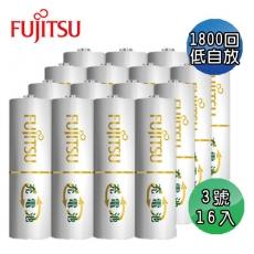 日本Fujitsu 富士通 低自放電3號充電電池16入