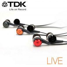 TDK CLEF-P2  -LIVE- 如臨現場立體聲耳機紅色