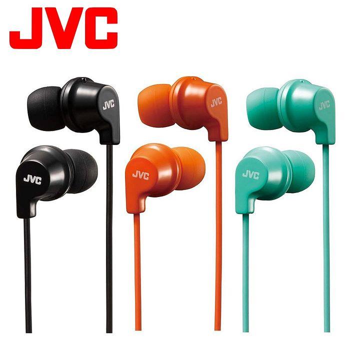 JVC 吸盤式捲線器入耳式耳機麥克風 HA-FR21橘色