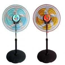 ★超值二入組★金展輝16吋廣角多功能循環涼風扇 A-1611水藍+橘色