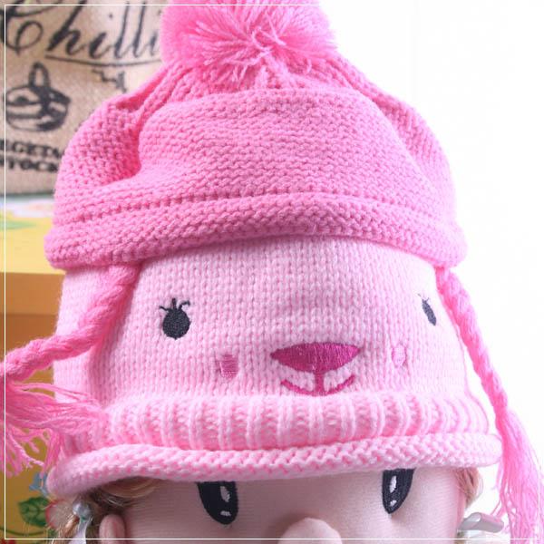 魔法Baby ~超卡哇依針織粉色毛線帽/兒童帽~k18691