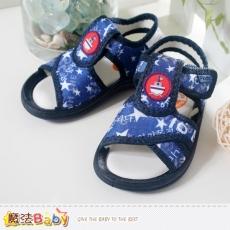 魔法Baby~男童鞋~星星印帆船男童涼鞋~sh3799