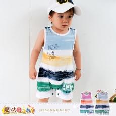 魔法Baby~連身衣~百貨專櫃正品純棉無袖包屁衣(藍.紅)~嬰兒服~k35308
