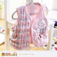 魔法Baby~背心外套 百貨專櫃正品嬰幼兒細絨鋪棉厚外套~K37128