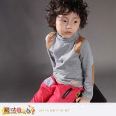 魔法Baby~童裝 專櫃品牌流行童裝高領長袖T恤~K37357