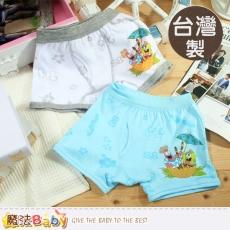 魔法Baby~台灣製造海綿寶寶男童四角內褲(4件組)~K38958