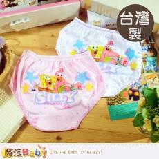 魔法Baby~女童內褲 台灣製造海綿寶寶女童三角內褲(4件組)~K39009M
