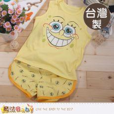 魔法Baby~台灣製海綿寶寶正版兒童背心套裝~K41675L