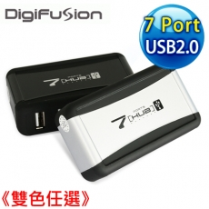 伽利略 實用型 USB 2.0 7 Port HUB 《雙色任選》黑