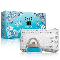 Anna Sui 安娜蘇 甜蜜夢境花綻禮盒(淡香水30ml+手拿包)-送品牌紙袋