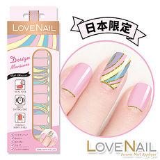 LOVE NAIL持久指甲油貼-日本限量系列-PinkFireworks(粉紅煙火)指甲貼