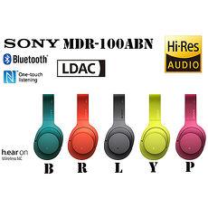 SONY MDR-100ABN (附原廠收納硬殼包) 高音質藍牙無線 降噪 耳罩式耳機,公司貨一年保固
