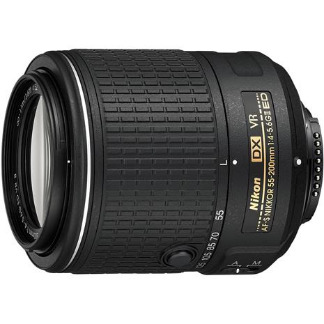 (平行輸入)Nikon AF-S DX 55-200mm f/4-5.6G ED VR II 變焦鏡頭-送保護鏡(52)+拭鏡筆