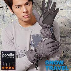 【SNOW TRAVEL】英國進口PORELLE防水保暖透氣薄手套AR-52/灰色/滑雪/騎車/戶外/雨天