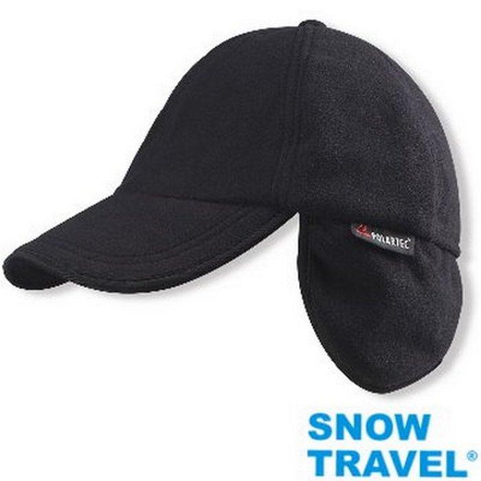 Snow Travel 雪之旅 AR-44深藍 Polartec Windbloc 防風保暖透氣棒球帽 遮耳帽/防寒/舒適柔軟/登山/滑雪/機車