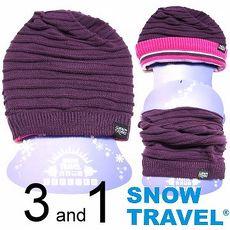 【SNOW TRAVEL】超保暖雙面圍脖三用帽 / 紫色 /AR-66/時尚多用