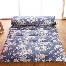 【契斯特】夏日涼感天絲綁帶日式床墊-加大6尺-五色可選(送和風座墊)(員購)