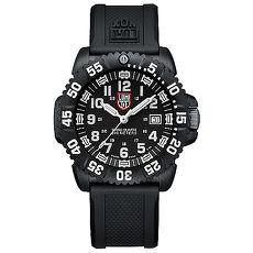 LUMINOX 雷明時 海豹部隊經典腕錶-黑x白時標/44mm A3051